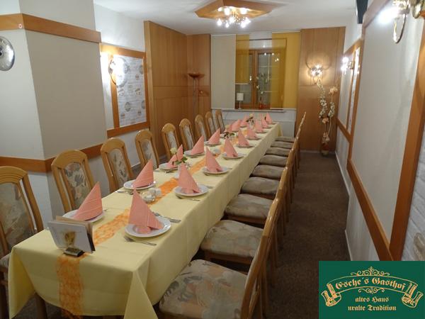Raum für eine Geburtstagsfeier